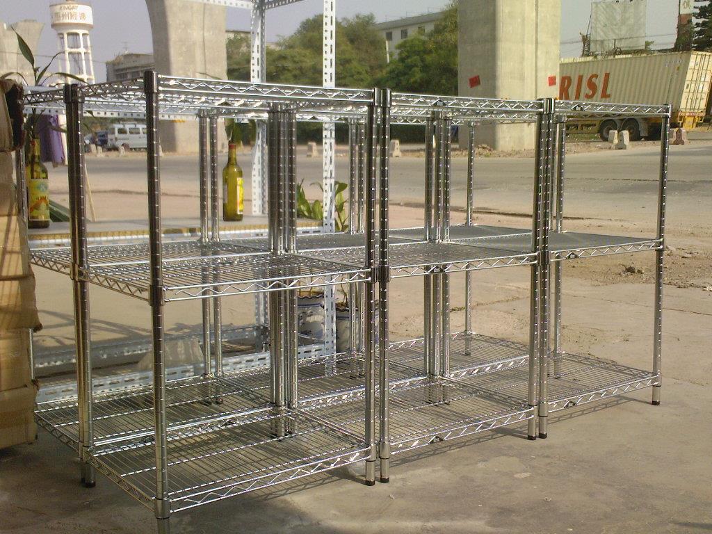 销售线网货架 定制不锈钢网片 镀铬货架